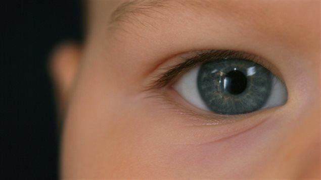 L'oeil d'un bébé