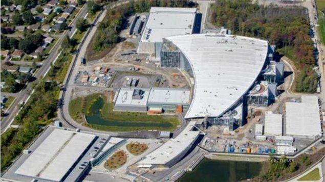 Les édifices du Centre de la sécurité des télécommunications et du Service canadien du renseignement de sécurité, en construction.