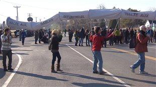 Les manifestants ont bloqué la circulation pendant près de 20 minutes sur la route 344.