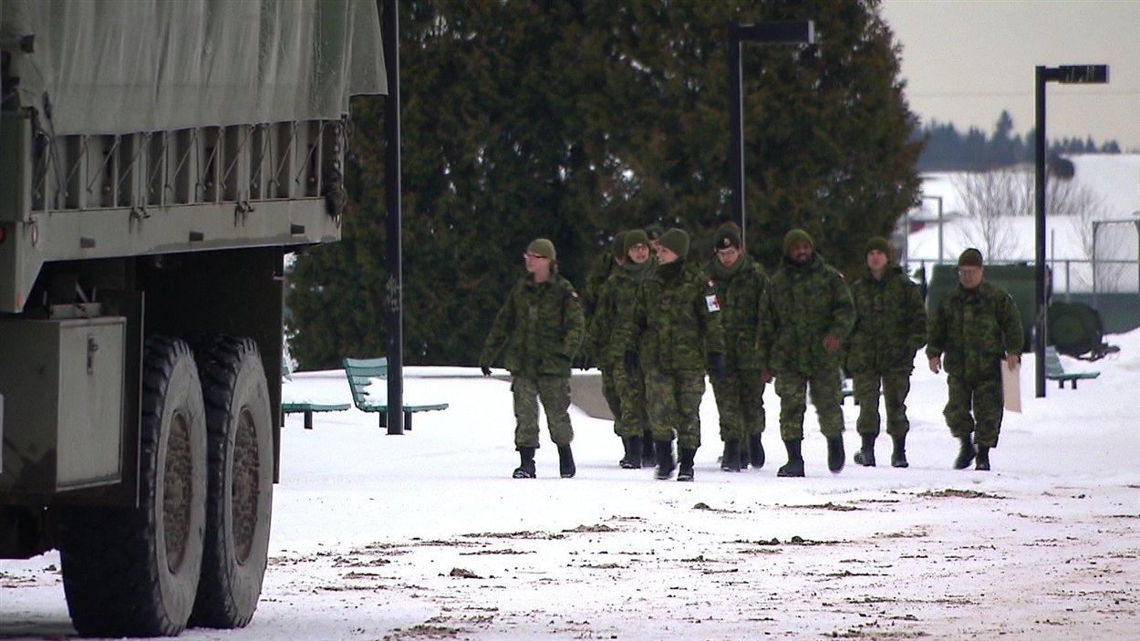 Des réservistes de l'armée canadienne à Rivière-du-Loup