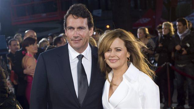 Pierre Karl Péladeau et Julie Snyder sur le tapis rouge du Gala Artis, en 2012