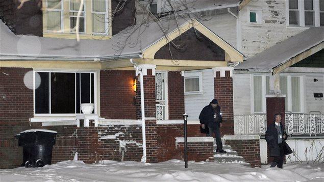 La maison où le drame a eu lieu.