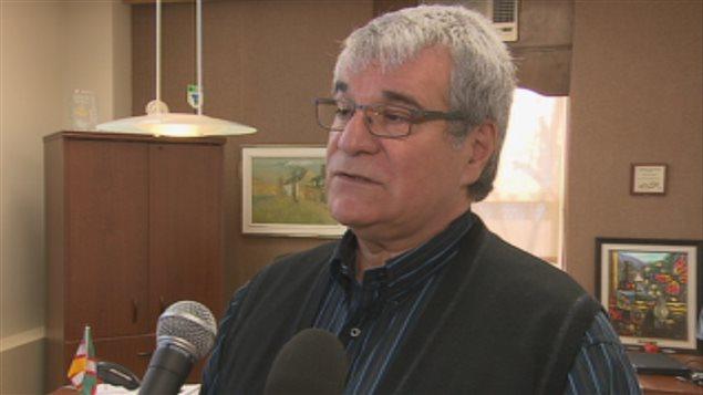 Le maire d'Alma, Marc Asselin