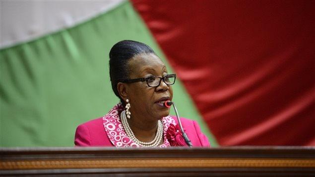 Catherine Samba-Panza, présidente par intérim de la République centrafricaine.