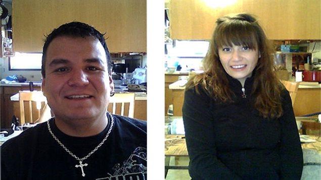 Kevin Goforth (gauche) et Tammy Goforth posent sur deux photos non datées.