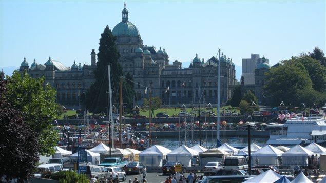 L'assemblée législative de Victoria en Colombie-Britannique.