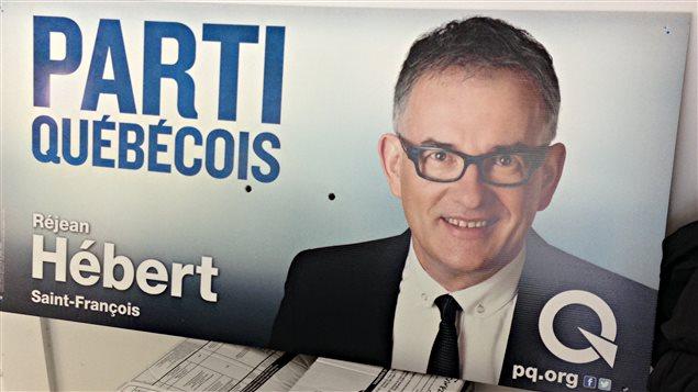Le candidat dans Saint-François, Réjean Hébert