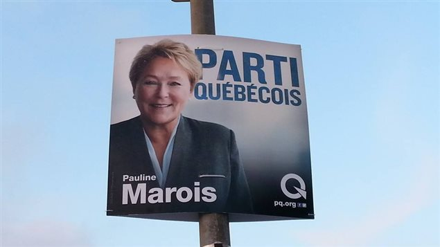 Une affiche électorale de Pauline Marois