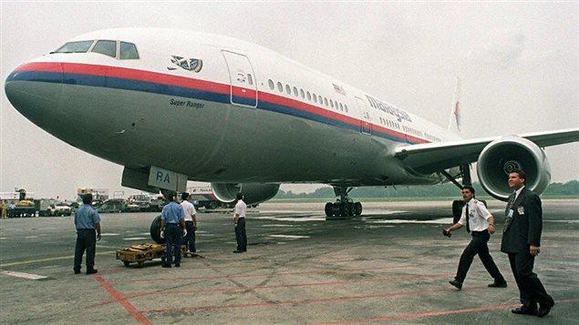 Un Boeing 777-200 de la compagnie Malaysia Airlines, à l'aéroport de Kuala Lumpur