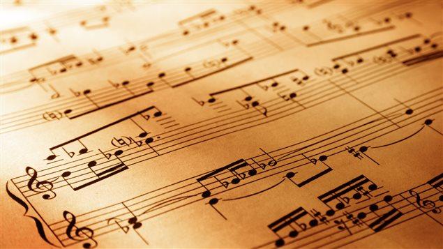 Une partition de musique