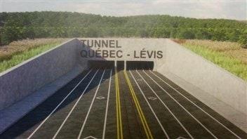 Projet de lien sous-fluvial entre Lévis et Québec