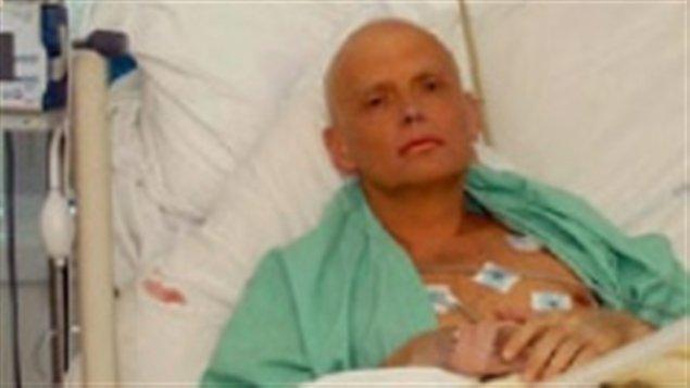 Alexandre Litvinenko sur son lit d'hôpital, trois jours avant sa mort