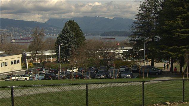 La vue du terrain de la garnison Jericho dans l'ouest de Vancouver.