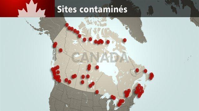 Les sites contaminés dont le Canada doit assurer l'assainissement.