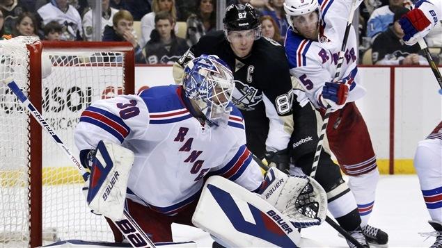 Henrik Lundqvist, des Rangers, et Sidney Crosby, des Penguins