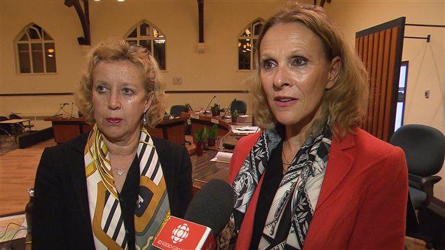 Les conseillères Lucie Cardyn et Jacqueline Gremaud