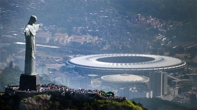 Le stade Maracana, vue d'en haut, à Rio de Janeiro
