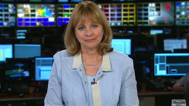 La lectrice de nouvelles, Marie-Claude Lavallée.
