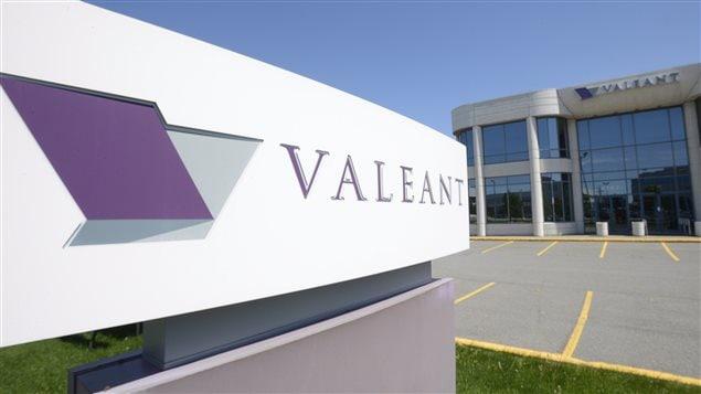 Le siège social de Valeant, à Montréal.