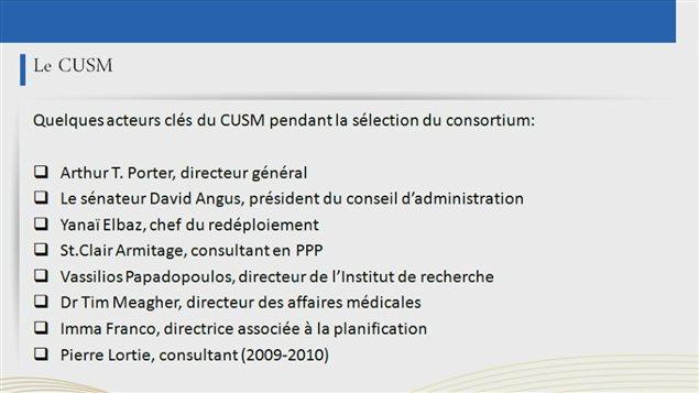 Des acteurs clés dans la sélection du consortium