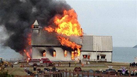 Incendie à l'église Sacré-Coeur