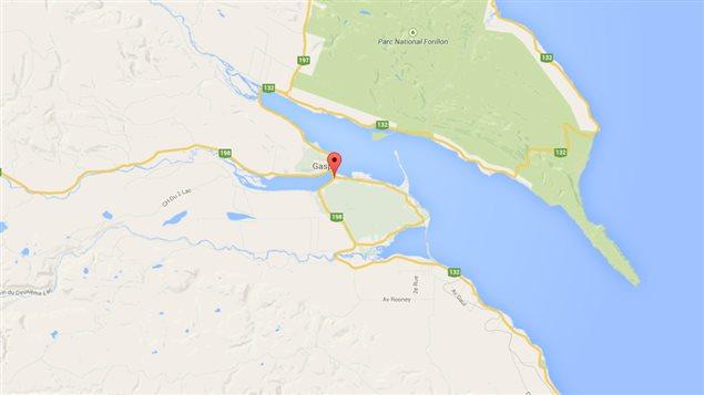 Le secteur Haldimand est situé à environ cinq kilomètres de Gaspé.