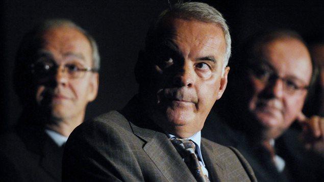 Alain Bouchard, en 2008, lors de l'assemblée de Couche-Tard, à Montréal