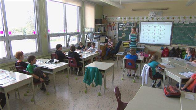 Une classe de l'école Jean-Fortin