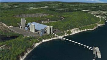 Une maquette du projet de cimenterie à Port-Daniel