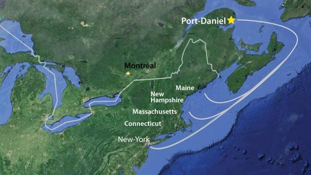 Le ciment sera notamment livré sur la côte est des États-Unis.