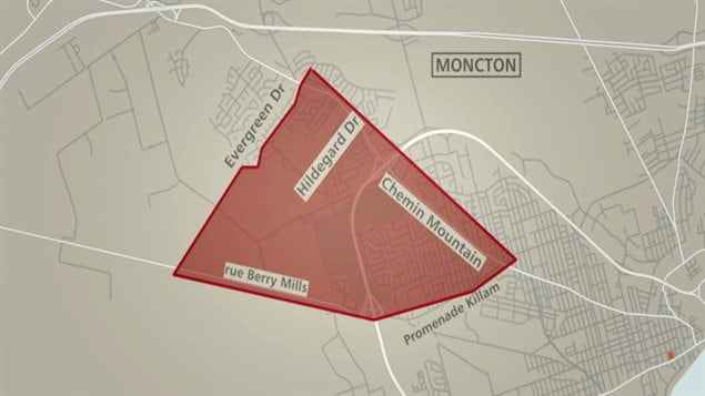 Le périmètre de sécurité à Moncton