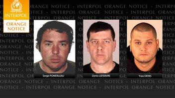Notice orange d'Interpol sur les trois évadés de Québec