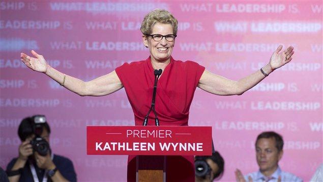 Kathleen Wynne a fait mentir les sondages en faisant réélire le Parti Libéral de l'Ontario aux dernières élections du 12 juin 2014.