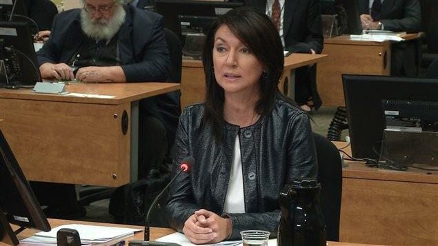 Nathalie Normandeau à la commission Charbonneau