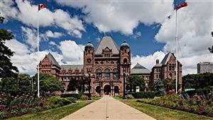 L'édifice de l'Assemblée législative de l'Ontario.