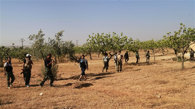 Des rebelles syriens dans la région d'Alep, dans le nord du pays. (archives)