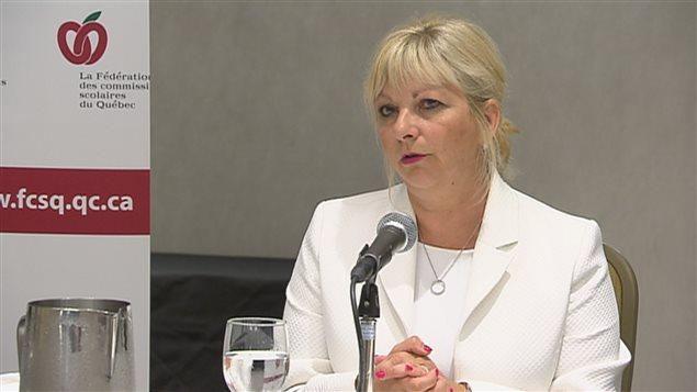 La présidente de la Fédération des commissions scolaires du Québec, Josée Bouchard