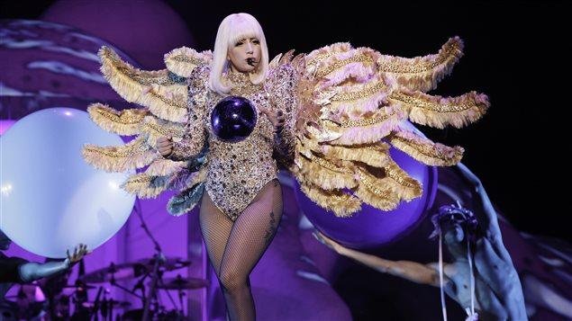 Lady Gaga en concert dans le cadre du Festival d'été de Québec