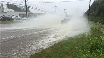 La tempête Arthur a causé des inondations dans la région de Saint-Jean, au Nouveau-Brunswick.