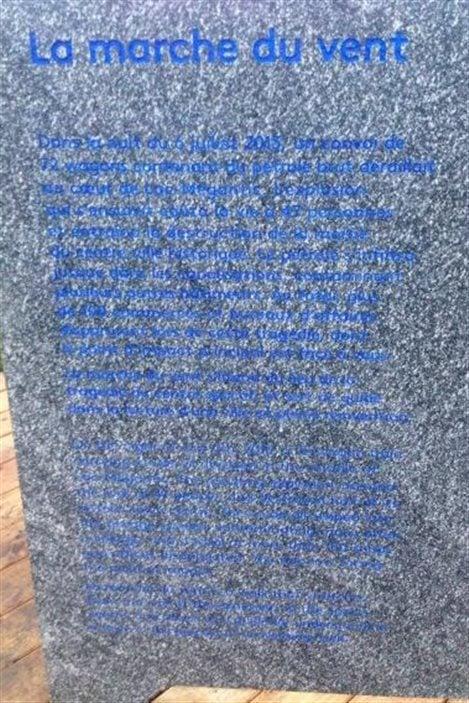 Inauguration d'une plaque où l'histoire de la tragédie de Lac-Mégantic est gravée dans la pierre.