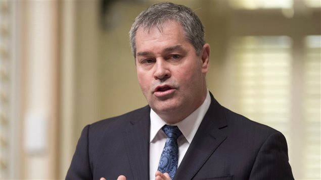 Le ministre de l'Éducation Yves Bolduc, à l'Assemblée nationale.