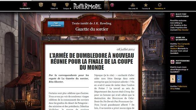 Le nouveau texte de J.K. Rowling publié le 8 juillet 2014