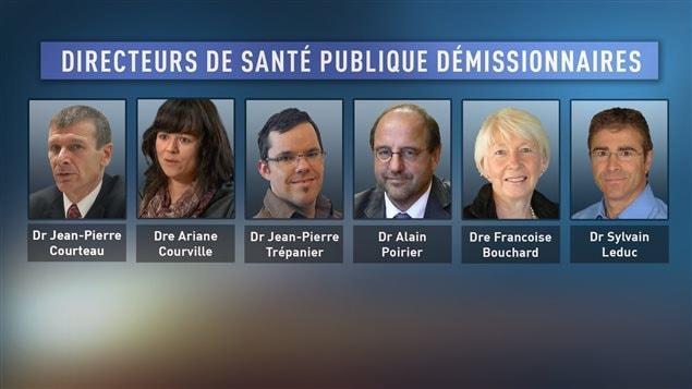 Directeurs de santé publique démissionnaires