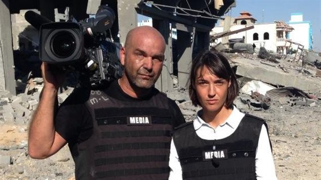 Marie-Ève Bédard et Sylvain Castonguay à Gaza