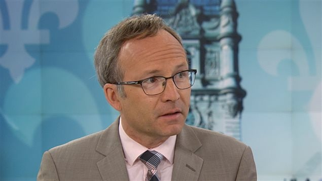 Le président du Conseil du trésor du Québec, Martin Coiteux.