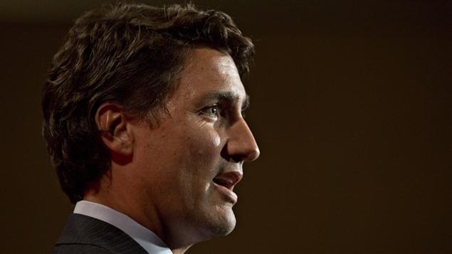 Justin Trudeau au caucus d'été du Parti libéral du Canada, à Edmonton, le 19 août.