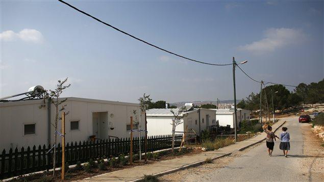 Des maisons israéliennes du secteur de « Gevaot », en Cisjordanie.