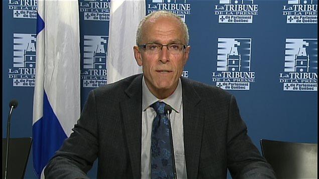Le maire de Ristigouche, François Boulay, à Québec