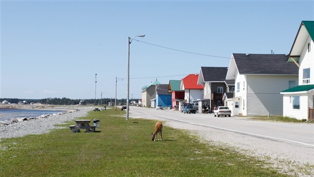 Le village de Port-Menier, sur l'île d'Anticosti