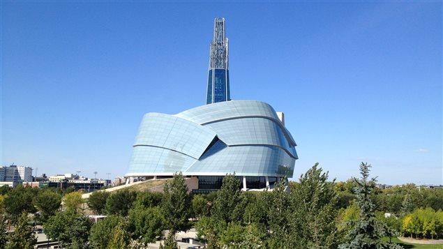 Le Musée canadien pour les droits de la personne et une partie du lieu historique national de La Fourche le 15 septembre.